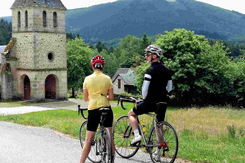 Correze Cycling Holidays France - Treignac Correze France on bike